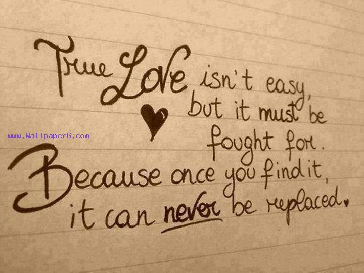 True love isnt easy