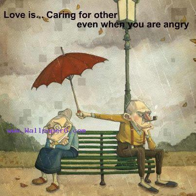 Love is... caring for other