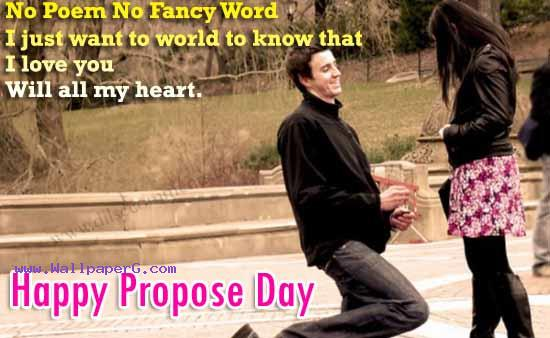 Happy propose day 01