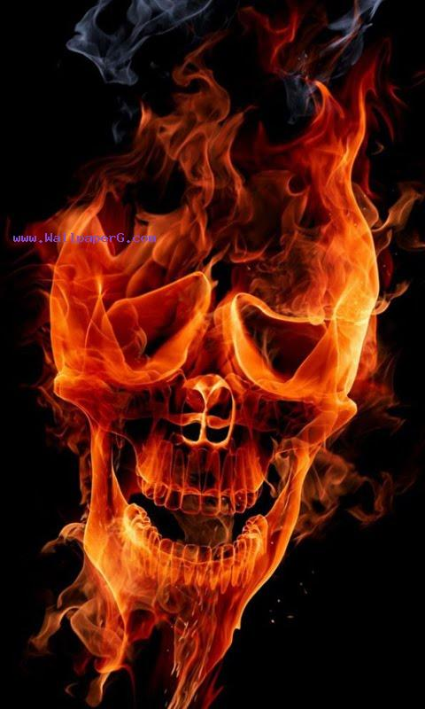 Firing skull screensaver