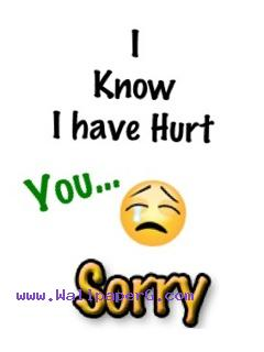 I hurt you sorry