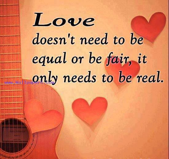 Love only needs to be rea