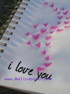 Love on notepad