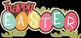 Happy easter transparent wallpaper