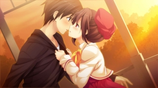 Anime romantic wallpaper