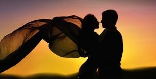 Couple sunset image