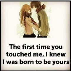 I was born to be yours love quote