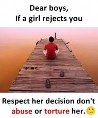 Girl reject respect her decision quote