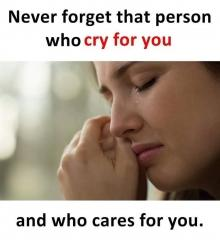 Never forget that person