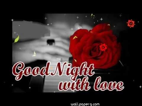 Good night with love whatsapp wallpaper