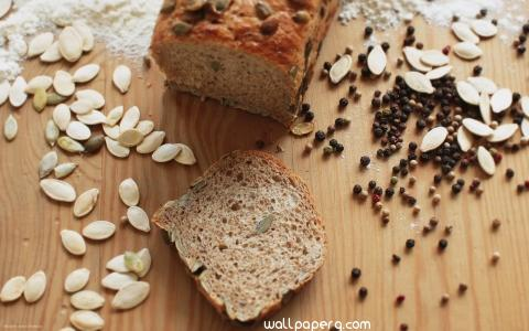 Bread with seeds hd wallpaper
