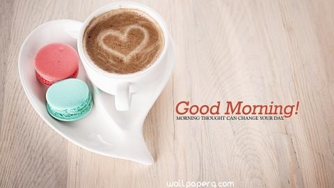 Good morning coffee cup heart photos