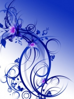 3d blue rose