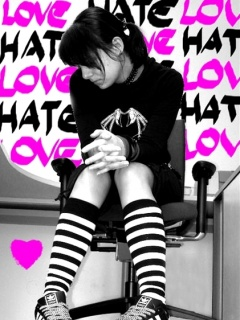 Sad girl in love hate