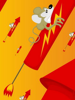 Rocket on mice ,wide,wallpapers,images,pictute,photos