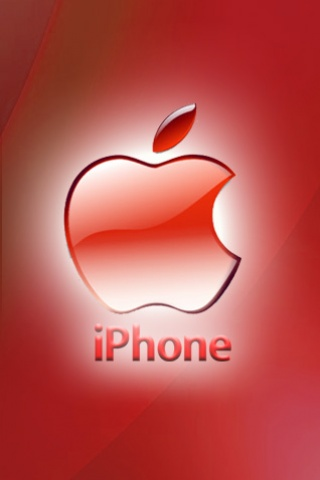 Iphone red apple theme