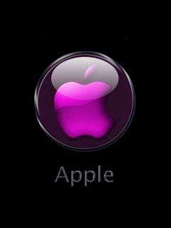 Pink apple logo ,wide,wallpapers,images,pictute,photos