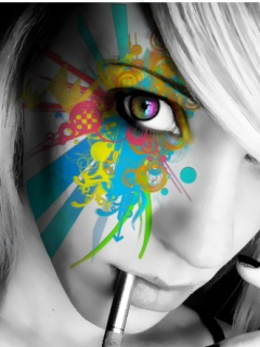 Paint face ,wide,wallpapers,images,pictute,photos