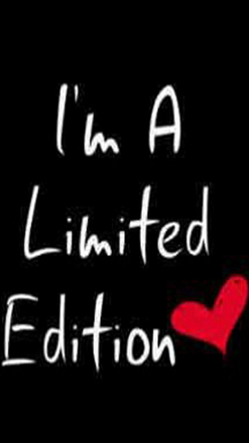 Download I Am A Limited Edition Saying Quote Wallpapers Mobile Version