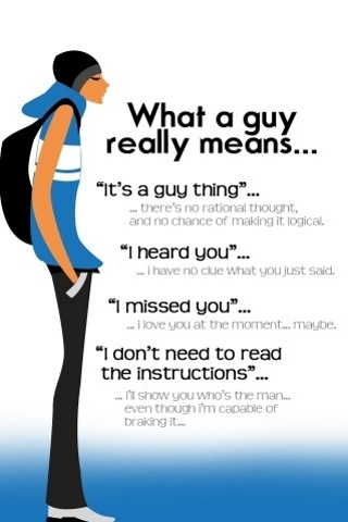 Guy really means