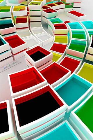 3d color blocks