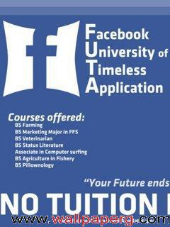 No tuition facebook faltu