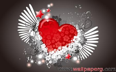 Abstract red and white heart