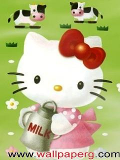 Kitty with milk