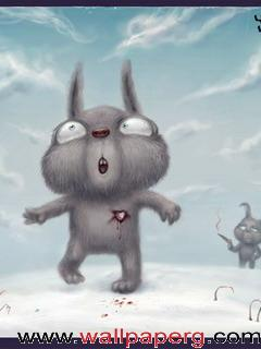 Broken heart rabbit ,wide,wallpapers,images,pictute,photos