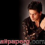 Shahrukh in black 1 ,wide,wallpapers,images,pictute,photos