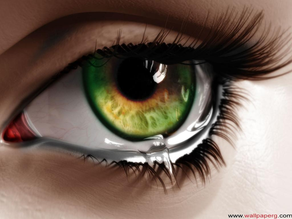 Green tearful eyes