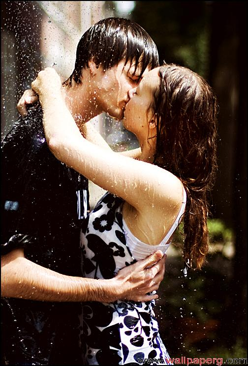 Kissing in rain 4