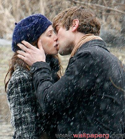 Kissing in snow 2