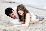 Couple on sand ,wide,wallpapers,images,pictute,photos