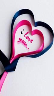 I love u pink and black