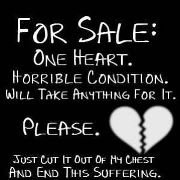 One heart for sale