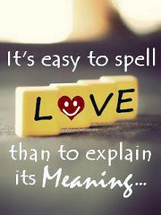 Easy to spell love