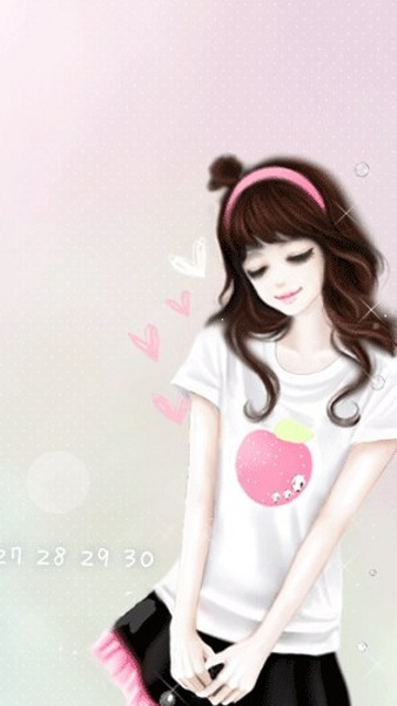 Download Lovely Pink Girl Wallpaper For Mobile Cell Phone