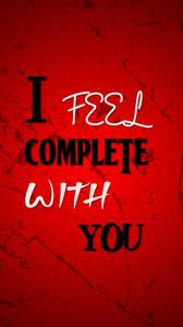 I feel complete with you2