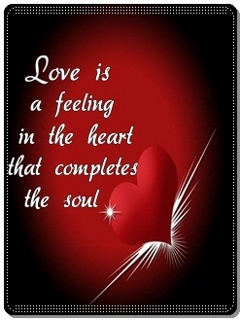 Download Love is a feeling - Heart touching love quote for