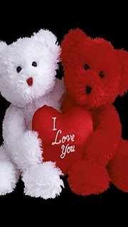 Teddy red and white love
