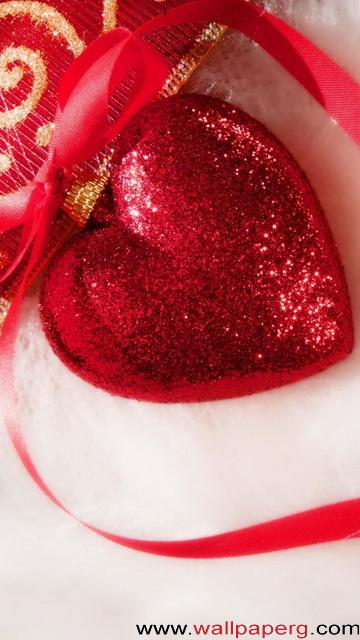Christmas red heart