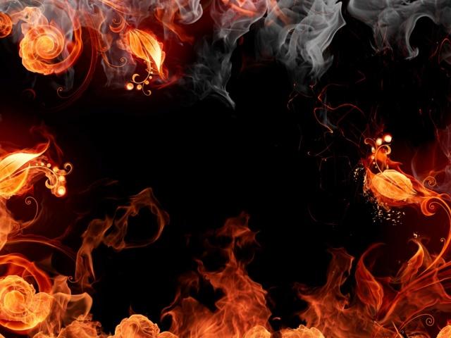 Screen on fire