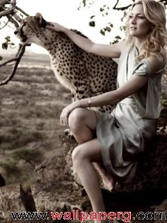 Angel girl with tiger ,wide,wallpapers,images,pictute,photos