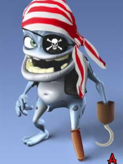 Funny pirate frog