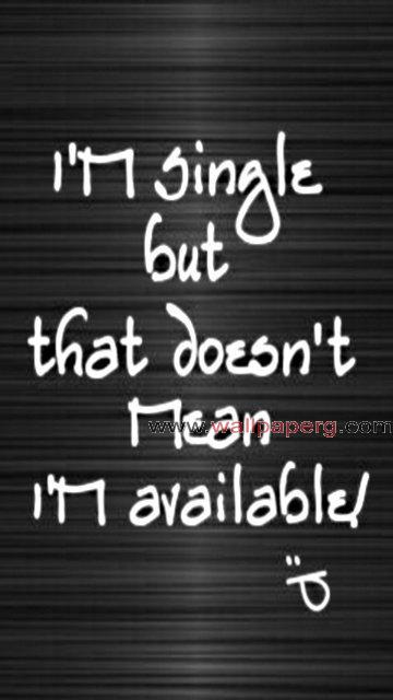 Single but not available
