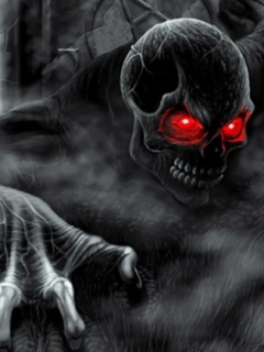 Red eye skull ,wide,wallpapers,images,pictute,photos