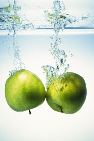 Green apple two ,wide,wallpapers,images,pictute,photos