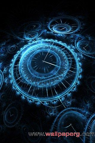 Blue clock ,wide,wallpapers,images,pictute,photos