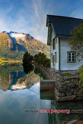 Reflection of the house
